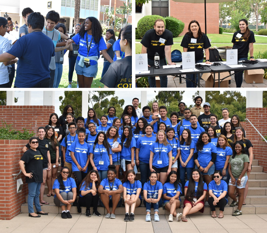 Students and Volunteers at the Summer Transition program